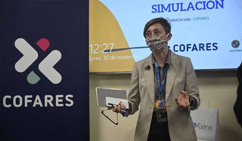 rectora de uax isabel fernandez inaugura el aula de simulacion de farmacia