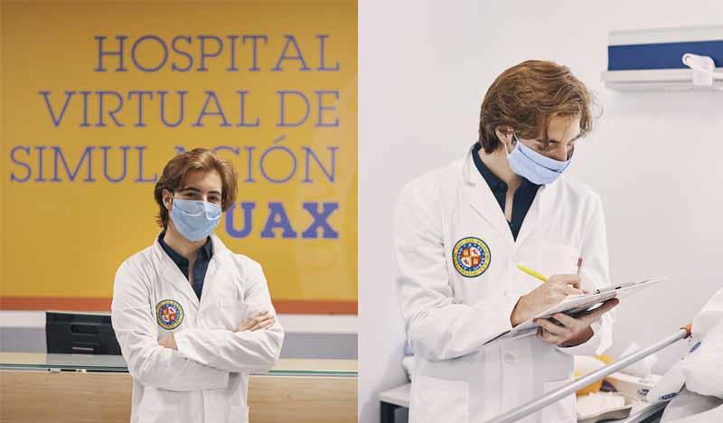 foto estudiante medicina uax en hospital virtual