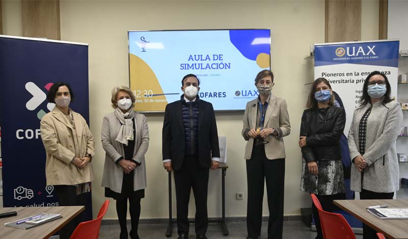 inauguracion aula de simulacion de farmacia uax