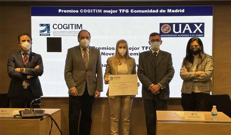 alumni uax premiada por cogitim por su tfg de 2020