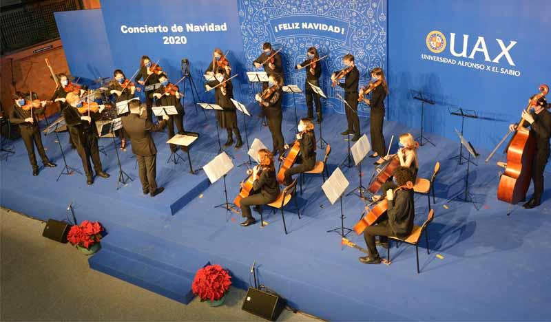 orquesta uax en concierto navidad 2020